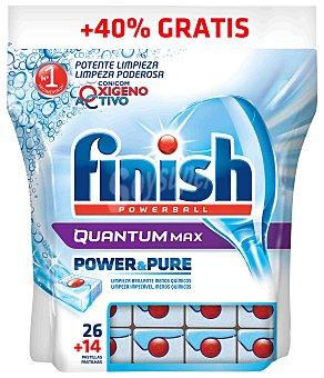 Finish Lavavajillas máquina P&P Quantum Bolsa 26+14 dosis