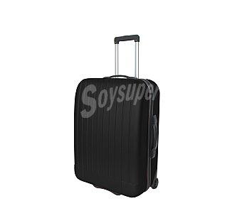 Maleta Maleta de 2 ruedas, abs, rígida y con diseño de rayas verticales sobre un fondo de color negro, medida: 47 centímetros 47cm
