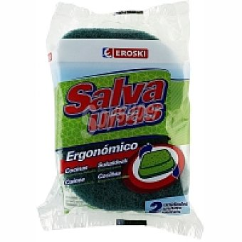 Eroski Estropajo de baño ergonómico Pack 1 unid