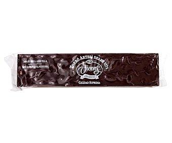 Vicens Turrón de chocolate bitter con almendras Tableta 300 g