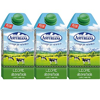 Central Lechera Asturiana Leche Desnatada Pack 4x50 cl