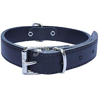 San Dimas Collar de cuero liso para perro color negro medidas 15x350 mm 1 unidad 1 unidad