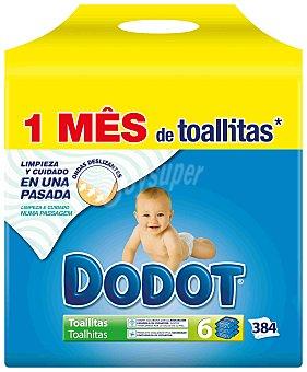Dodot Toallitas para bebés Pack 6 x 64 u (384 u)