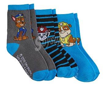Patrulla Canina Lote de 3 pares de calcetines de niño talla 31/34 talla 31/34.