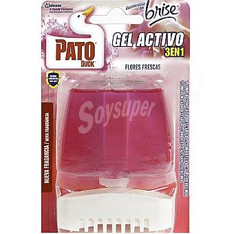 Pato Desinfectante WC gel activo 3 en 1 Flores Frescas aparato + recambio
