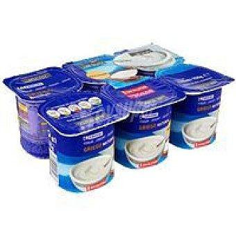 Eroski Yogur Griego azucarado natural Pack de 6x125 g