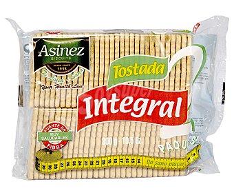 Asinez Galleta tostada integral en paquetes, fuente de fibra, 300 g