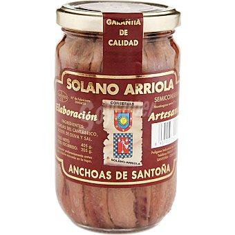 Solano Filetes de anchoa en aceite de oliva frasco 205 g neto escurrido