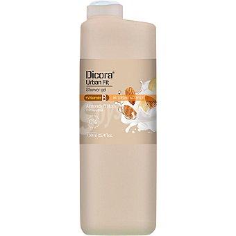 Dicora Gel de baño Urban Fit con nueces y almendras +vitamina B  bote 750 ml