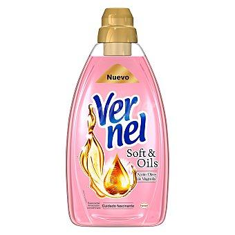 Vernel Suavizante Concentrado Soft & Oils Rosa Botella 1.5 l
