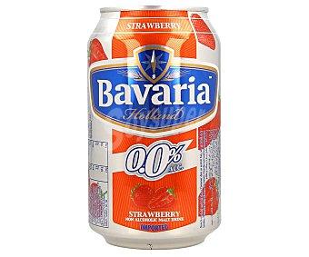 Bavaria Cerveza (0,0% alcohol) con sabor a fresa Lata 33 cl