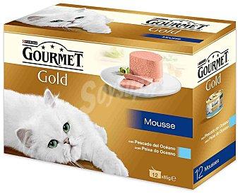 Gourmet Comida para gatos Pescados del Oceano Pack 12x85 gr
