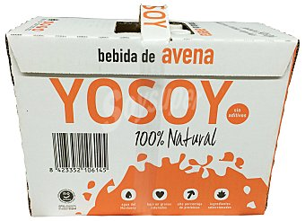 Yosoy Bebida avena sin azucares añadidos 100% natural 6 bricks de 1 L