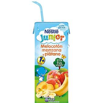 Junior Nestlé Zumo 100% fruta de melocotón manzana y plátano Envase 200 ml