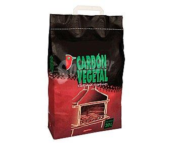 Auchan Carbón vegetal de calidad superior debido a su alto contenido en carbón fijo y pocas impurezas. Ideal para uso en barbacoas 2.8 kilos