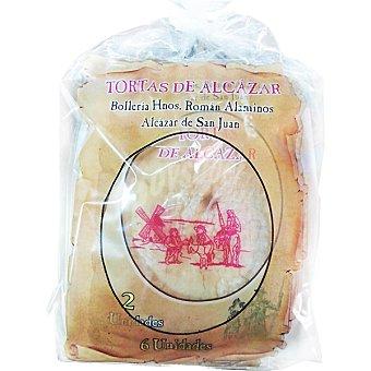 Hermanos roman Tortas de Alcázar 6 unidades bolsa 250 g 6 unidades
