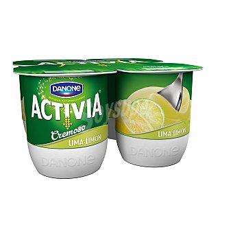 DANONE ACTIVIA Yogur cremoso sabor lima-limon  pack 4 unidades 120 g