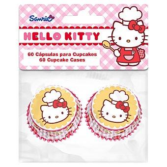 STOR Cápsulas de papel Baking Hello Kitty para mini cupcakes set 60 ud 60 unidades