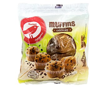 PRODUCTO ALCAMPO Muffins con pepitas de chocolate individuales 240 g