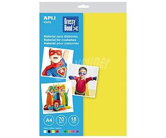 APLI Bolsa de planchas de foam, goma eva, de diferentes colores, de tamaño DIN-A4 y densidad de 70 gramos/m² 18 unidades