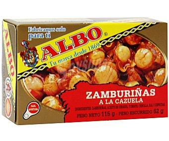 Albo Zamburiñas a la Cazuela 62 Gramos Peso Escurrido