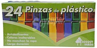 Bosque Verde Pinzas ropa plastico Paquete 24 u