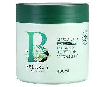 Belessa Mascarilla con extracto de té verde y tomillo, para cabellos normales 400 ml