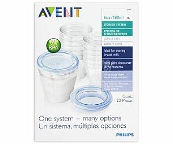 AVENT Recipiente vía leche materna (10 recipientes más 2 adaptadores) 1 Unidad