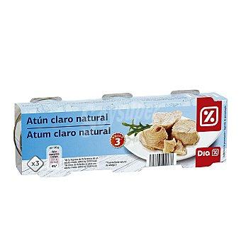 DIA Atún claro al natural Pack de 3 latas 56 gr