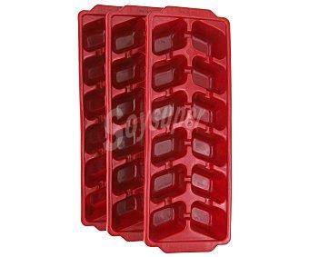Curver Bandejas para cubitos de hielo, color rojo 3 Unidades