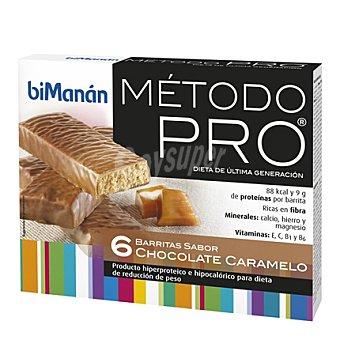 Bimanan Barrita de sabor chocolate caramelo 162 g (6 unidades)
