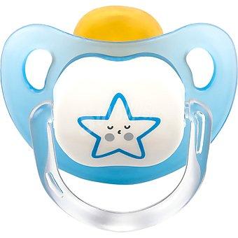 DOMBI Chupete de Latex azul con dibujo de estrella 0-4 meses