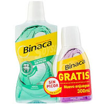 Binaca Colutorio de menta Bote 500+300 ml
