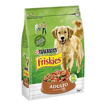 Purina Friskies Pienso para perros adultos de aves y verduras Bolsa 3 kg