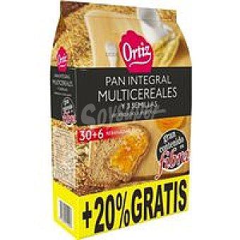Ortiz Pan tostado multicereales Paquete 30+6 rebanadas