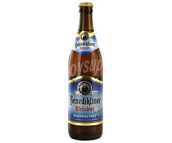 BENEDIKTINER Cerveza de trigo sin alcohol Botella de 50 centilitros