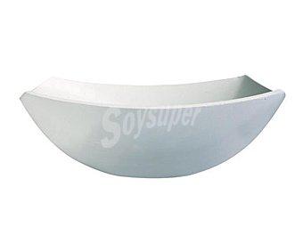 LUMINARC Ensaladera modelo Quadrato de 24 Centímetros, fabricada en vidrio Opal blanco y con diseño cuadrangular 1 Unidad