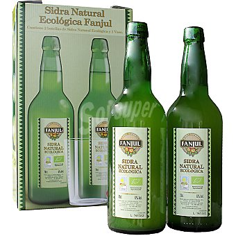 FANJUL Sidra natural + vaso Estuche 2 botella 70 cl