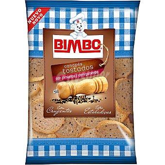 Bimbo Mini canapés tostados con pimienta Bolsa 80 g