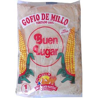Buen lugar gofio de millo sin gluten  envase 1 kg