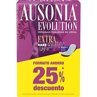 Ausonia Compresa de incontinencia extra para pequeñas pérdidas  bolsa 20 unidades