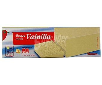 Auchan Helado en bloque sabor a vainilla 1 litro