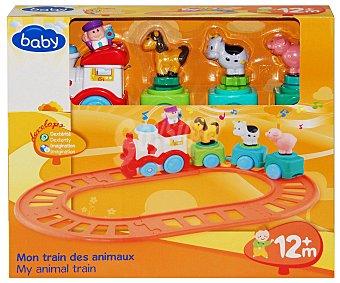 Baby Tren Musical con Animales encajables en los vagones y vía para montar 1 Unidad
