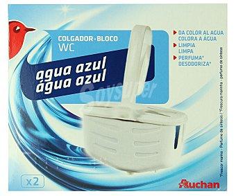 Auchan Colgador de WC, limpia y perfuma Pack de 2 unidades de 40 gramos