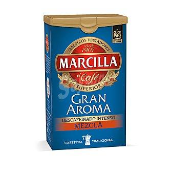 Marcilla café molido descafeinado mezcla intenso  paquete 200 g