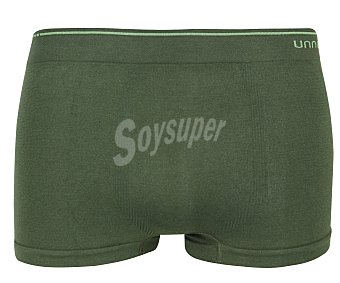 UNNO Smart confort Pack de 2 calzoncillos bóxer de algodón sin costuras unno UH102/2, color verde, talla L 2u