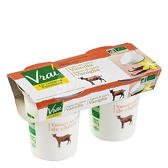 Vrai Yogur cabra vainilla Pack de 2x125 g