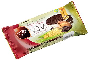 Diet Rádisson Tortitas maíz chocolate negro 125g