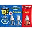 Insecticida volador eléctrico líquido antimosquitos comunes y tigre 45 noches caja 2 recambio  Raid