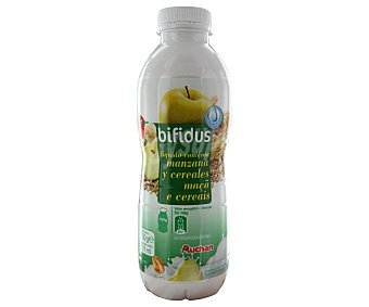 Auchan Yogur bifidus líquido con manzana y fibra 750 gramos